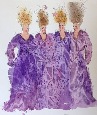 Starstruck Divas Art Print by Marilyn Jacobson