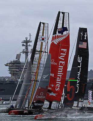 Photograph - Start America's Cup World Series by Steven Lapkin