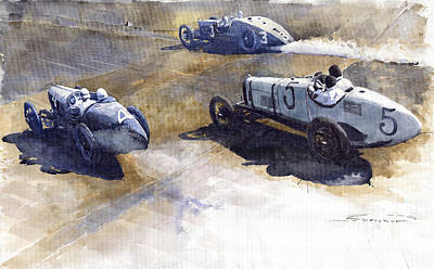 Start Italian Gp 1923 Monza  Print by Yuriy  Shevchuk