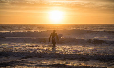 Avalon Photograph - Start The Day Surfing by Kristopher Schoenleber