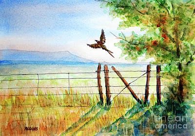 Painting - Startled Flight by Rebecca Davis