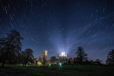 Photograph - Startrails Over Ely by James Billings