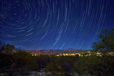 Photograph - Startrails Over Thimble Peak by Dan McManus