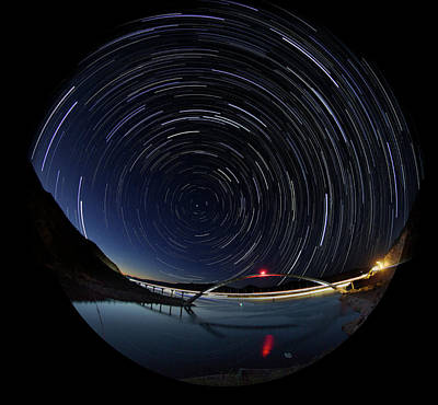 Photograph - Startrails by Trish VanHousen