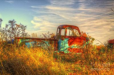 Old Chevy Truck Wall Art - Photograph - Starving Artist by Robert Pearson