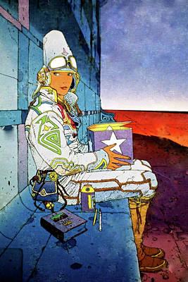 Astronauts Mixed Media - Starwatcher by Thomas Pollart