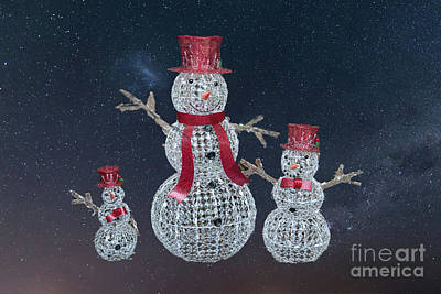 Photograph - Stary Snowmen  by Dale Powell