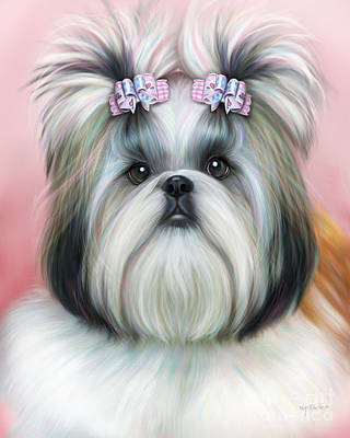 Painting - Stassi The Tzu by Catia Lee