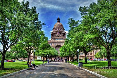 Photograph - State Capitol Building Austin Texas by Savannah Gibbs
