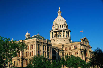 State Capitol Building Austin Tx Art Print by Panoramic Images