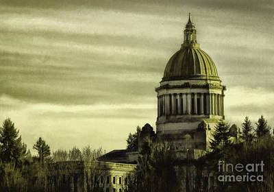 Photograph - State Capitol by Jean OKeeffe Macro Abundance Art