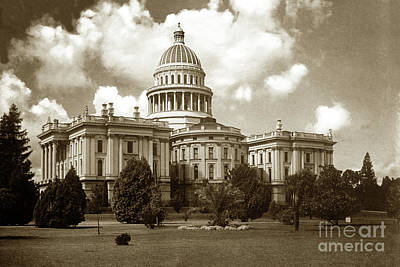 Photograph -  State Capitol, Rear View, Sacramento, Cal. Circa 1907 by California Views Mr Pat Hathaway Archives