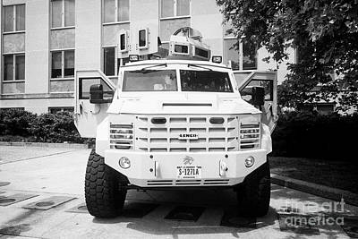 Bearcats Photograph - state department lenco bearcat g5 close private security detail armored personnel vehicle Washington by Joe Fox