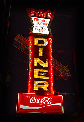 Coca-cola Sign Photograph - State Diner - Ithaca Ny by Stephen Stookey