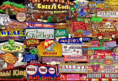 State Fair Food Collage Original