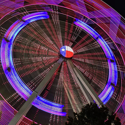 Robert Bellomy Royalty-Free and Rights-Managed Images - State Fair of Texas Ferris Wheel by Robert Bellomy