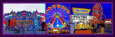 Family Night Out Photograph - State Fair Triptych 2 by Steve Ohlsen