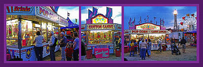 Family Night Out Photograph - State Fair Triptych by Steve Ohlsen