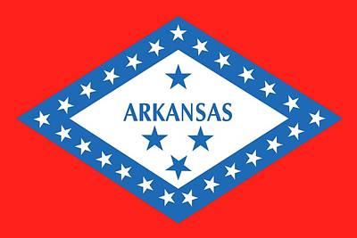 State Flag Of Arkansas Print by American School