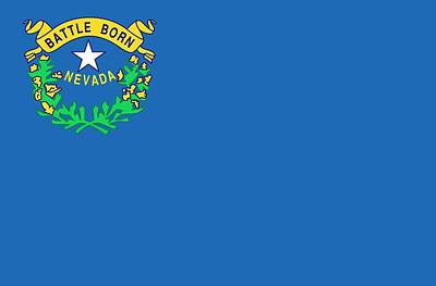 State Flag Of Nevada Print by American School