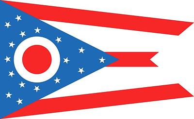 State Flag Of Ohio Print by American School