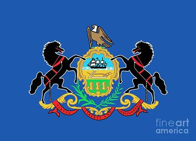 State Flag Of Pennsylvania Art Print by American School