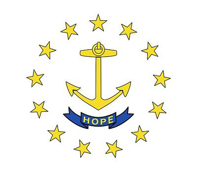 State Flag Of Rhode Island Print by American School