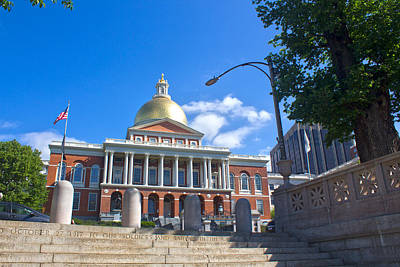 Photograph - State House - Boston Series 25 by Carlos Diaz