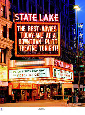 Photograph - State-lake Theater by Tom Jelen