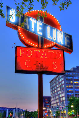 Photograph - State Line Potato Chips - Boston, Ma. by Joann Vitali