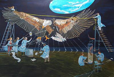 Animals Paintings - State of emotion - animal biology - by Lazaro Hurtado