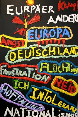 Mixed Media - State Of Europe by Darrell Black