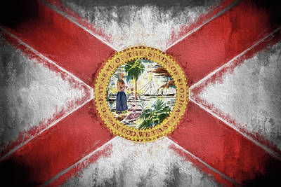 Digital Art - State Of Florida Flag by JC Findley
