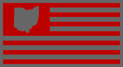 State Of Ohio - American Flag Art Print