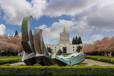 Photograph - State Of Oregon Capitol Building In Spring by Jit Lim