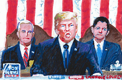 Painting - State Of The Union 2018 by Candace Lovely