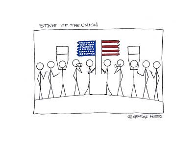 Painting - State Of The Union by George Hobbs
