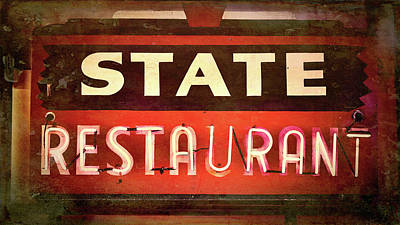 Photograph - State Restaurant by Stephen Stookey