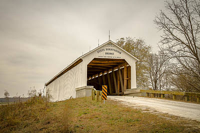 Photograph - State Sanatorium Covered Bridge by Jack R Perry