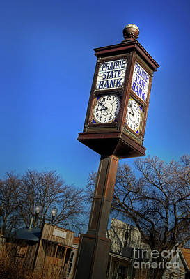 Photograph - State Street Clock by Fred Lassmann