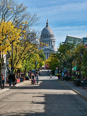 Photograph - State Street - Madison - Wisconsin by Steven Ralser
