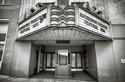 Photograph - State Theater In Black And White by Lynne Jenkins