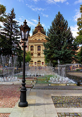 Photograph - State Theater In The Old Town, Kosice, Slovakia by Elenarts - Elena Duvernay photo