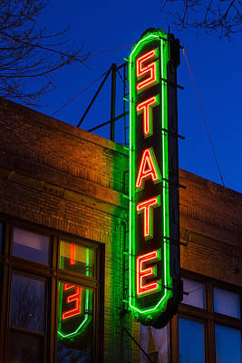Finger Lakes Photograph - State Theatre - Ithaca by Stephen Stookey