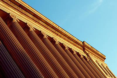 Abstract Urban Landscape Photograph - Stately Columns by Todd Klassy