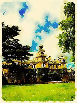 Impressionism Paintings - Stately Home by John Springfield by Esoterica Art Agency