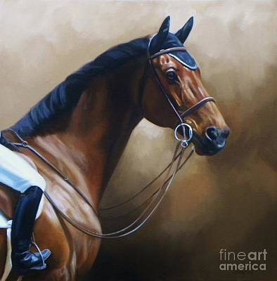 Jumper Painting - Stately Jumper by Janet  Crawford
