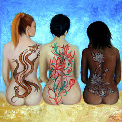 Painting - Tattooed Stately Curves by Leonardo Ruggieri