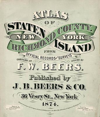 1874 Digital Art - Staten Island Atlas by Roy Pedersen
