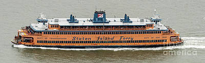 Photograph - Staten Island Ferry Aerial Photo by David Oppenheimer